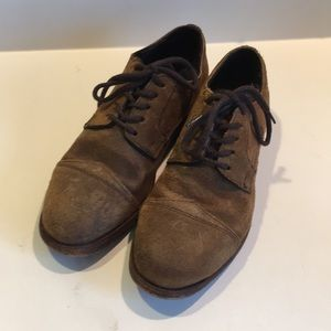 Frye Loafers Leather Suede Lace up size 9 D